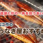 松江市の美味しいうなぎ屋さんベスト5!おすすめ店を厳選してピックアップ