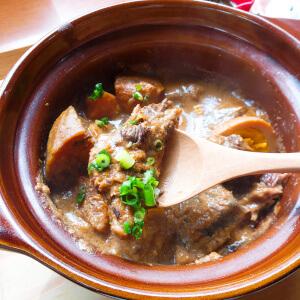 メルモのおやつ ランチ 日替わり 豚軟骨味噌煮込み