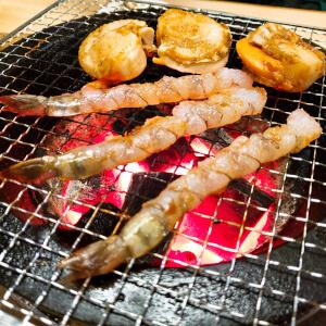炭焼き通り 焼肉 海鮮 エビ ホタテ