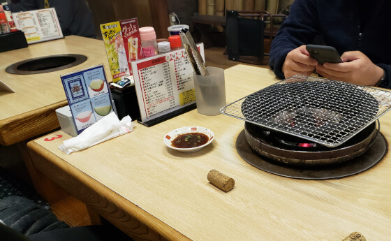 炭焼き通り 焼肉 松江 店内 座敷
