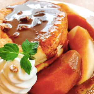 カフェリラックス 松江 パンケーキ りんご