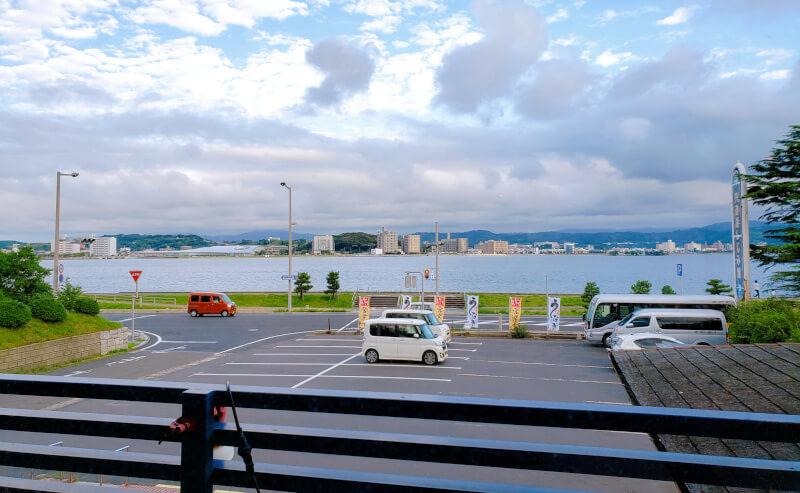 松江市千鳥町のこ根っこやからみた宍道湖