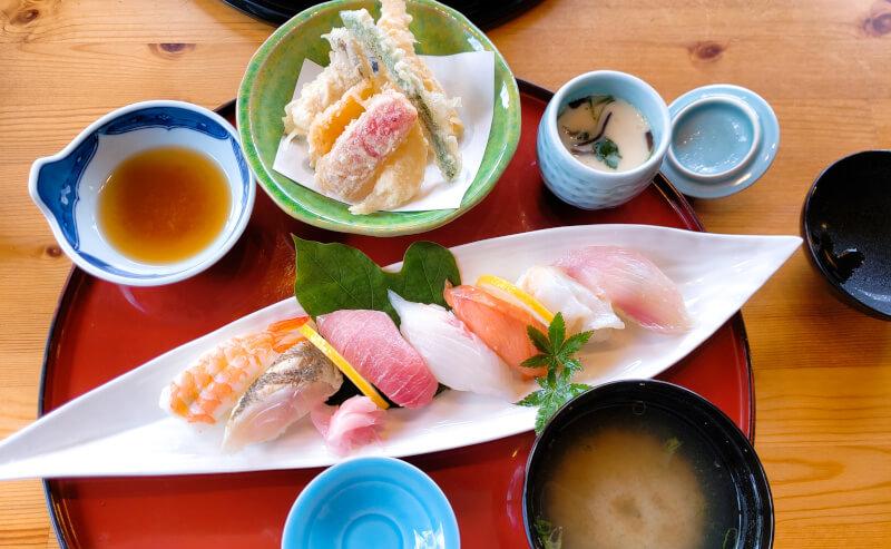 松江市の京らぎのお任せ握り寿司