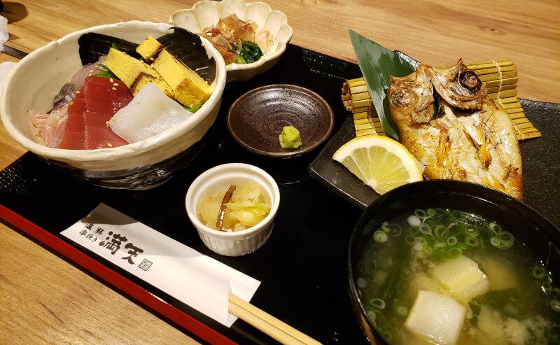 松江市寺町にある海鮮串焼き満天のランチ