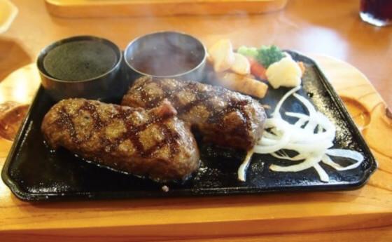 松江市にあるビッグボーイの大俵ハンバーグ