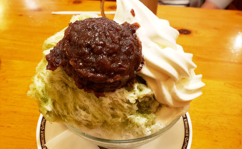 松江市学園にあるコメダ珈琲のかき氷