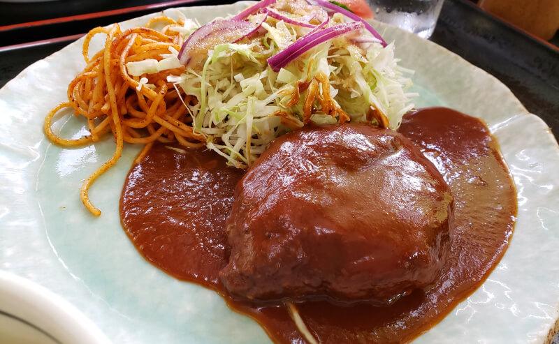 松江市にあるとんかつ1番のハンバーグ