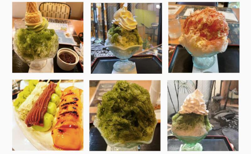 松江市にある月ヶ瀬のかき氷Instagram