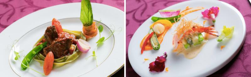 松江市にあるフランス料理店のシャトースミスのコース料理
