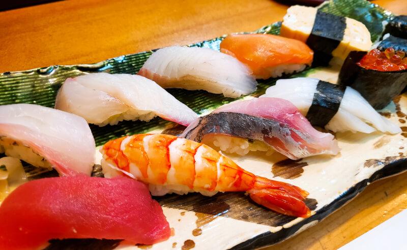 松江市末次町にある井津茂の握り寿司