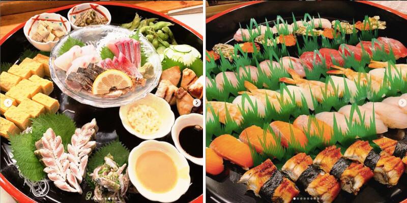 松江市千鳥町にある徳さんのオードブルと寿司桶
