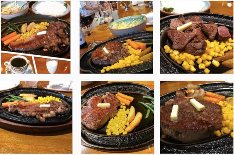 松江市にあるステーキ館和のInstagramにアップされているステーキ