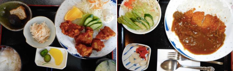 松江市にある和風レストランぼんのカレーとからあげ定食