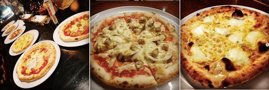 松江市京店にあるパスタファクトリーのピザ