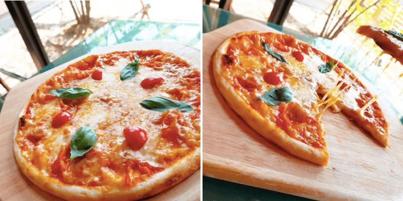 松江市にあるモッチモパスタのピザ