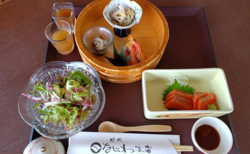 松江市にあるなにわ本店のランチ