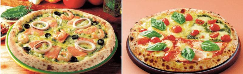 松江市にあるナポリの窯・ストロベリーコーンズのピザ