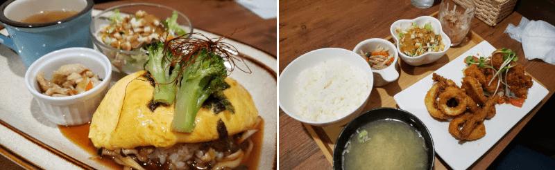 松江市春日町にあるsmileのオムライスとフライ定食