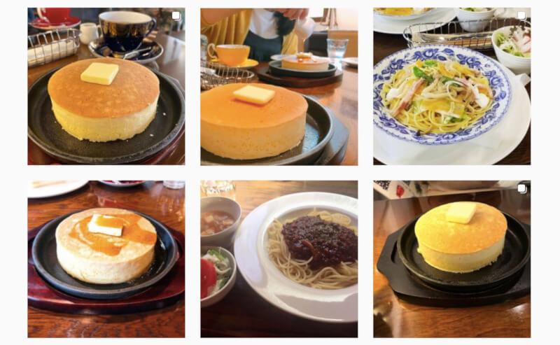 松江市千鳥町にあるカフェラピエールのパンケーキ