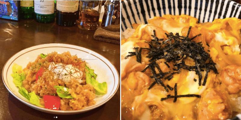 松江市千鳥町にあるスカラ座のランチメニューのナシゴレンと親子丼