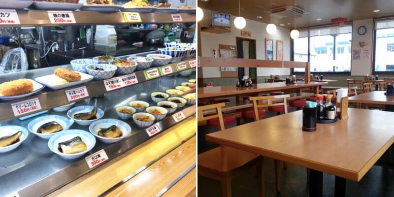 松江市にあるごはんや西津田食堂の店内