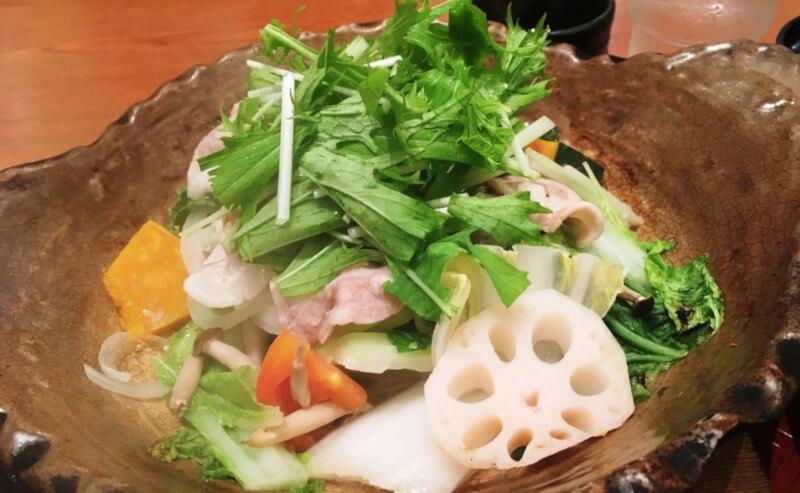 松江市にあるイオン松江店内の大戸屋の和食