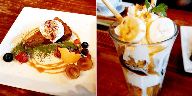 松江市にある服部珈琲のパフェとケーキ