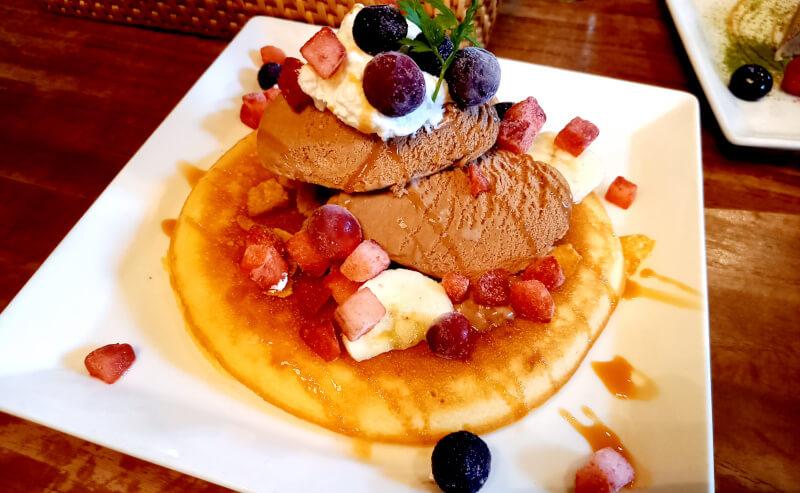 松江市にある服部珈琲のパンケーキ
