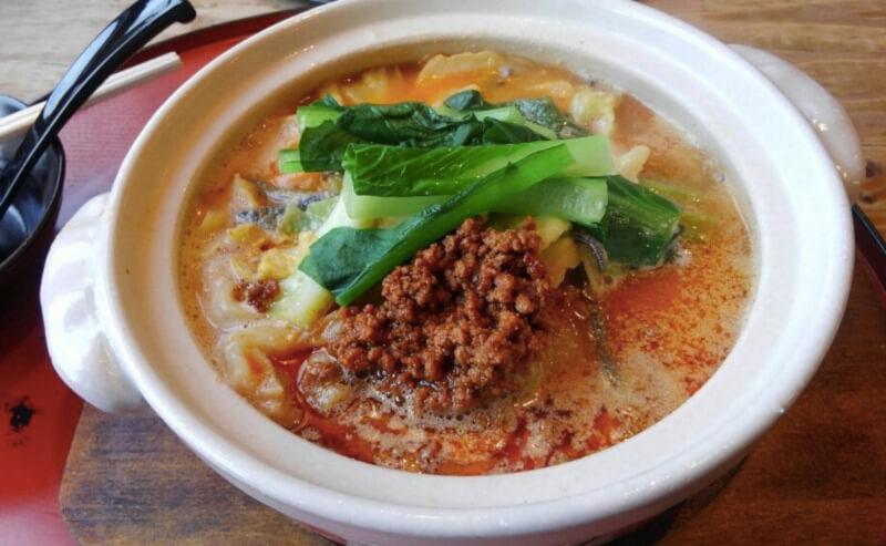 松江市田和山にある壱龍ラーメンの鍋焼き担々麺