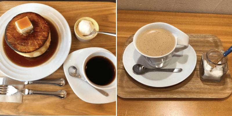 松江市田和山にあるカフェモルフォのホットケーキと珈琲