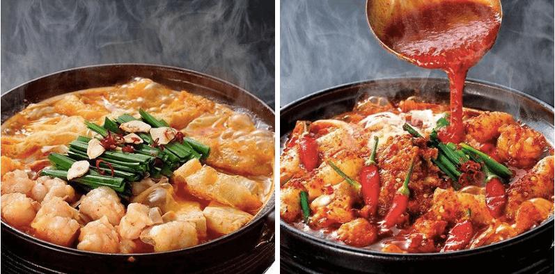 松江市にある赤からのもつ鍋と激辛鍋