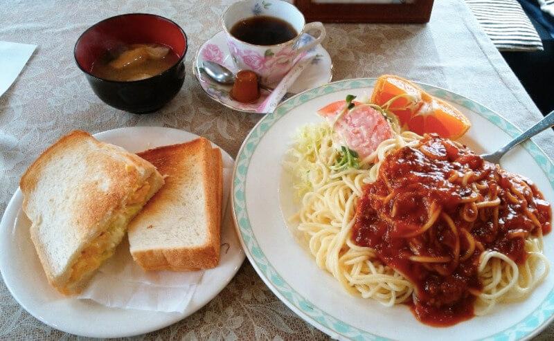 松江市浜乃木にあるカフェレスト飛翔のランチ