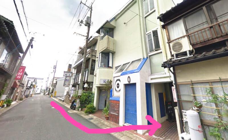 松江市東本町にあるかどやの外観