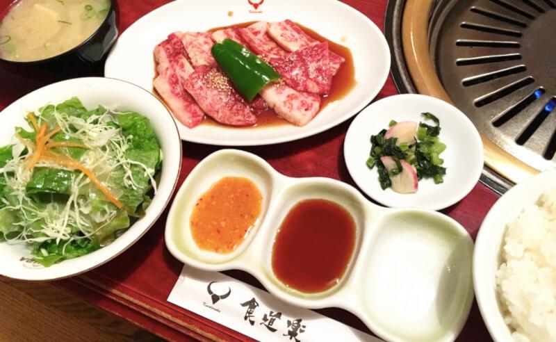 松江市浜乃木にある食道楽の焼肉ランチ