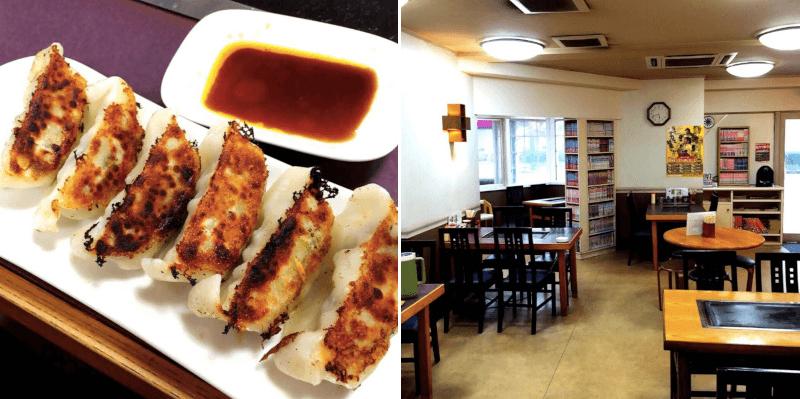 松江市上乃木にあるお好み焼き博多の餃子と店内