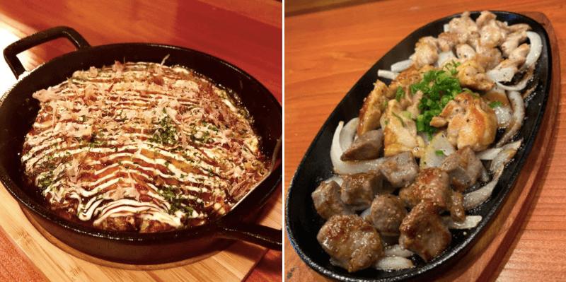 松江市東本町にあるかがりびのお好み焼きと鉄板焼き