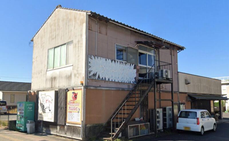 松江市砂子町にあるとんかつたていしの外観