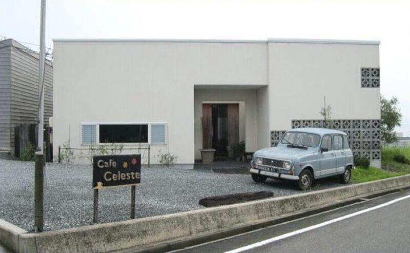 松江市八束町にあるカフェチェレストの外観