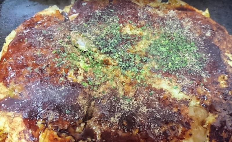 松江市上乃木にあるお好み焼き博多のお好み焼き